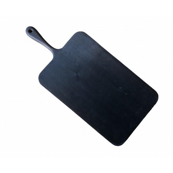 10160-2 Доска с ручкой черная 37х20см