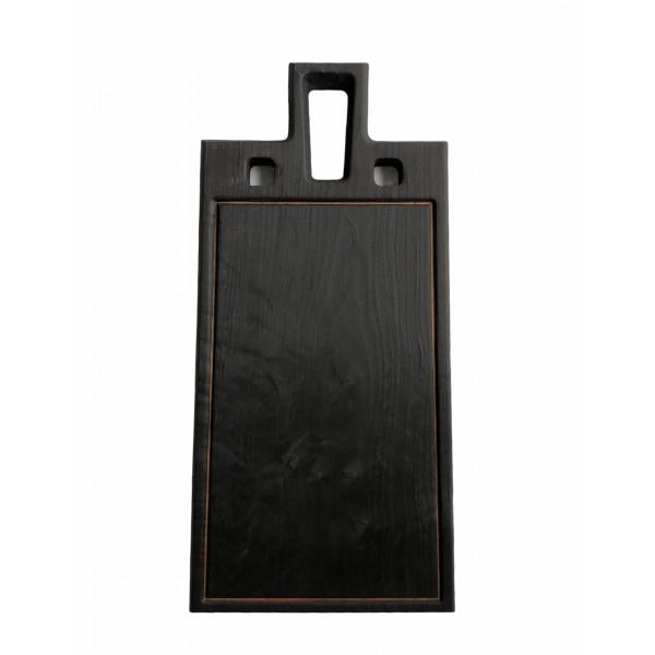 10415 Доска черная для стейка 400х200мм