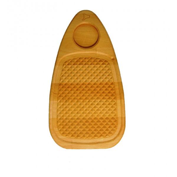 Доска для гриля с углублением для соусника 35х19см
